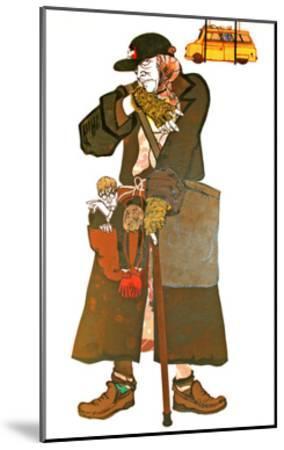 The Lady and the Van-Carol Walklin-Mounted Giclee Print