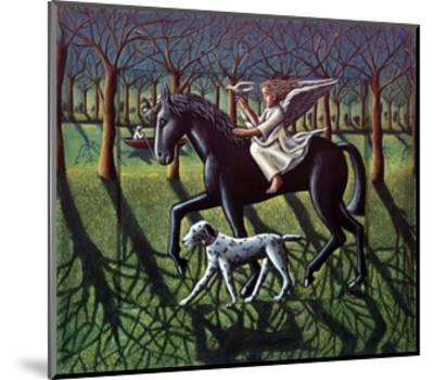THE ANGEL. HORSE, DOG & DOVE-PJ Crook-Mounted Giclee Print