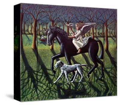 THE ANGEL. HORSE, DOG & DOVE-PJ Crook-Stretched Canvas Print