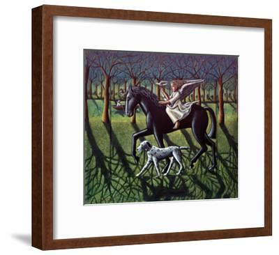 THE ANGEL. HORSE, DOG & DOVE-PJ Crook-Framed Premium Giclee Print