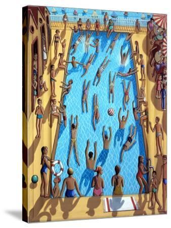 THE SWIMMING POOL, 2012,-PJ Crook-Stretched Canvas Print