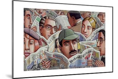 A Good Read, 2007-PJ Crook-Mounted Giclee Print