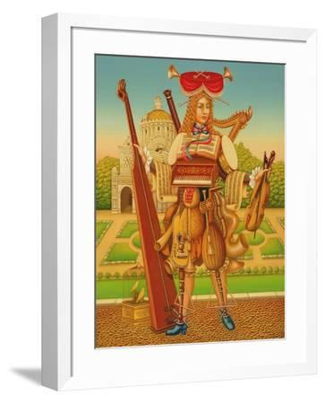 The Musician's Garden, 1997-Frances Broomfield-Framed Giclee Print