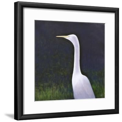 White Egret-Lincoln Seligman-Framed Giclee Print