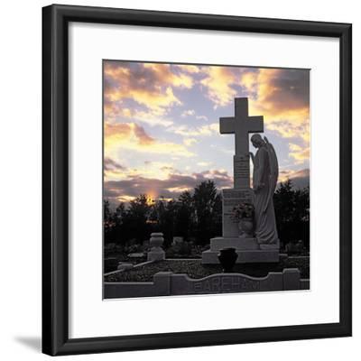 Basildon Cemetery--Framed Photographic Print