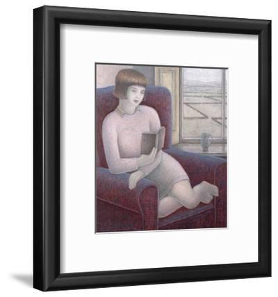 Girl Reading in Armchair-Ruth Addinall-Framed Giclee Print