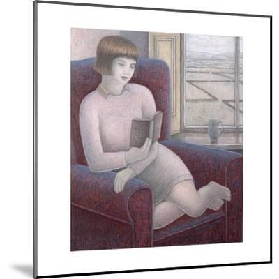 Girl Reading in Armchair-Ruth Addinall-Mounted Giclee Print