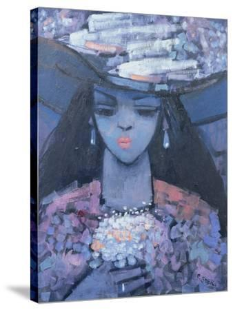 Edwina's Hat, 1991-Endre Roder-Stretched Canvas Print