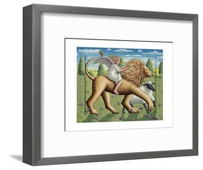 The Lion, the Lamb and the Angel, 2007-PJ Crook-Framed Premium Giclee Print