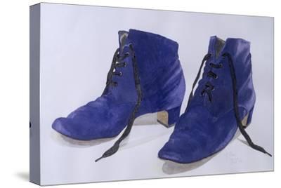 Blue Shoes, 1997-Alan Byrne-Stretched Canvas Print