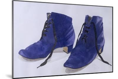 Blue Shoes, 1997-Alan Byrne-Mounted Giclee Print