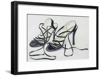 Black Strappy Shoes, 1997-Alan Byrne-Framed Giclee Print