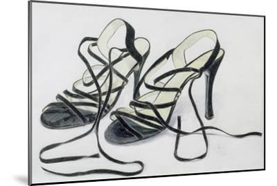 Black Strappy Shoes, 1997-Alan Byrne-Mounted Giclee Print