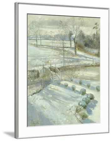Lavender and the Chinese Bridge-Timothy Easton-Framed Giclee Print