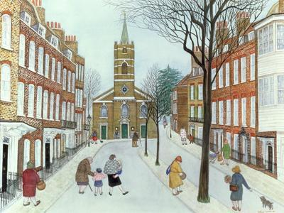 Church Row II, Hampstead-Gillian Lawson-Framed Giclee Print