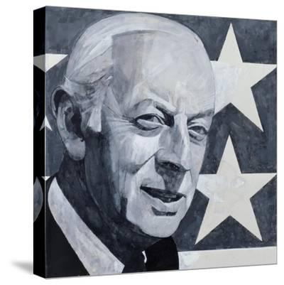 Portrait of Alistair Cooke, illustration for 'The Listener', 1970s-Barry Fantoni-Stretched Canvas Print