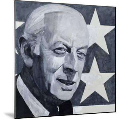 Portrait of Alistair Cooke, illustration for 'The Listener', 1970s-Barry Fantoni-Mounted Giclee Print