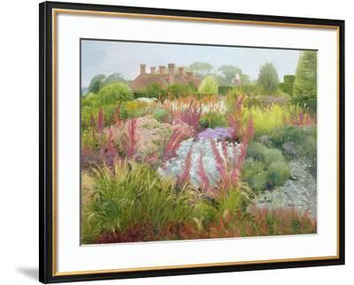 Spires of Kniphofia and Great Dixter-Timothy Easton-Framed Giclee Print
