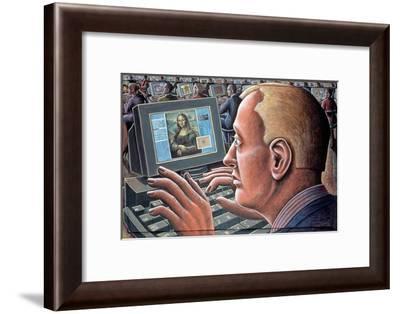 Leonardo-PJ Crook-Framed Giclee Print