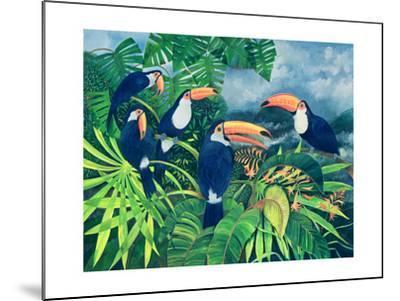 Toucan Talk-Lisa Graa Jensen-Mounted Giclee Print