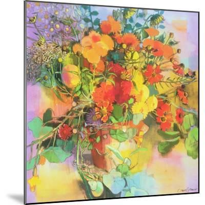 Autumn Flowers-Claire Spencer-Mounted Giclee Print