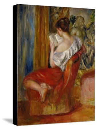 La liseuse-reading woman, around 1900. Oil on canvas, 56 x 46 cm.-Pierre-Auguste Renoir-Stretched Canvas Print