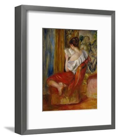 La liseuse-reading woman, around 1900. Oil on canvas, 56 x 46 cm.-Pierre-Auguste Renoir-Framed Premium Giclee Print