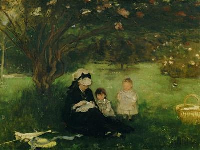 Lilas a Maurecourt - The lilacs at Maurecourt,1874 Canvas,51 x 61 cm.-BERTHE MORISOT-Framed Giclee Print