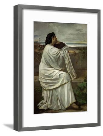 "Iphigenia, Feuerbach's favourite Roman model "" Nana"". Oil on canvas (1871) 192.5 x 126.5 cm.-Anselm Feuerbach-Framed Giclee Print"