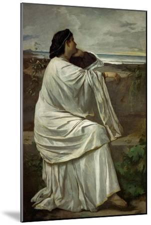 "Iphigenia, Feuerbach's favourite Roman model "" Nana"". Oil on canvas (1871) 192.5 x 126.5 cm.-Anselm Feuerbach-Mounted Giclee Print"