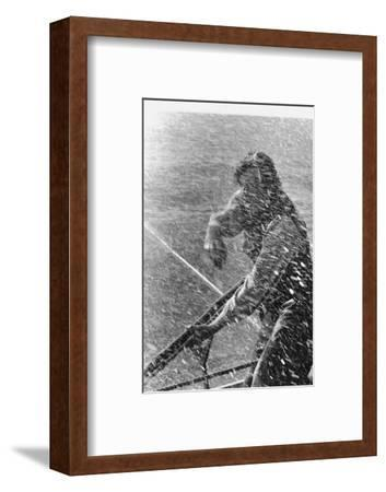 "John Huston's film "" Moby Dick"" , starred Gregory Peck,1954.-Erich Lessing-Framed Photographic Print"