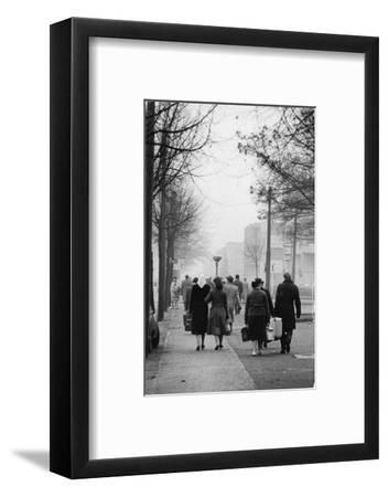East-Berliners could cross into the West with a permit. Berlin-West,1958.-Erich Lessing-Framed Photographic Print