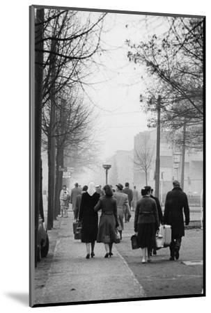 East-Berliners could cross into the West with a permit. Berlin-West,1958.-Erich Lessing-Mounted Photographic Print