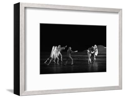 Georges Balanchineworking with the dancers of the Paris Opera, Palais Garnier, Paris,1973.-Erich Lessing-Framed Photographic Print