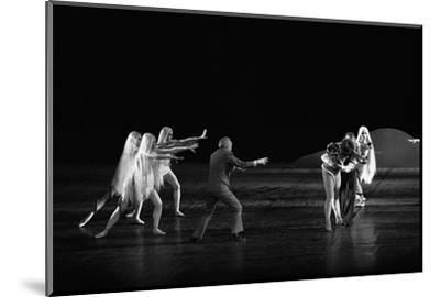 Georges Balanchineworking with the dancers of the Paris Opera, Palais Garnier, Paris,1973.-Erich Lessing-Mounted Photographic Print