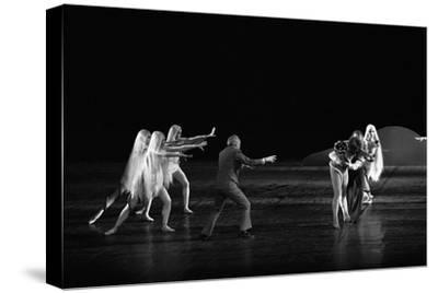 Georges Balanchineworking with the dancers of the Paris Opera, Palais Garnier, Paris,1973.-Erich Lessing-Stretched Canvas Print