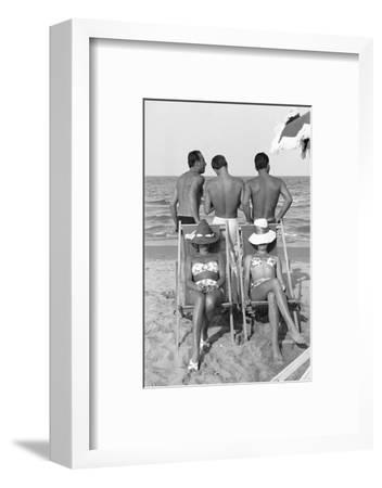 Cesenatico: the happy life on an Italian beach,1960.-Erich Lessing-Framed Photographic Print