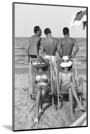 Cesenatico: the happy life on an Italian beach,1960.-Erich Lessing-Mounted Photographic Print