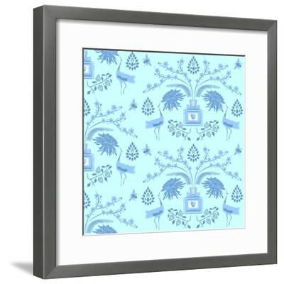 Blue Floral Scent-Claire Huntley-Framed Giclee Print