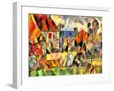 autumn courtyard(version I,2017-Alex Caminker-Framed Giclee Print