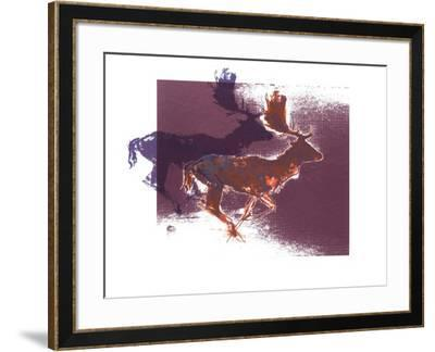 Fallow Bucks, 2015-Mark Adlington-Framed Giclee Print