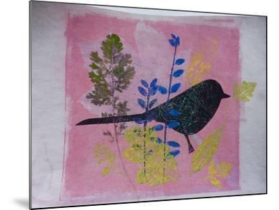 Birdy on pink-Sarah Thompson-Engels-Mounted Giclee Print