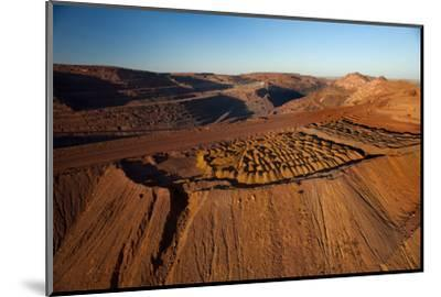 Outback mines aerials.-John Gollings-Mounted Photo