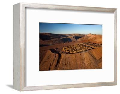 Outback mines aerials.-John Gollings-Framed Photo