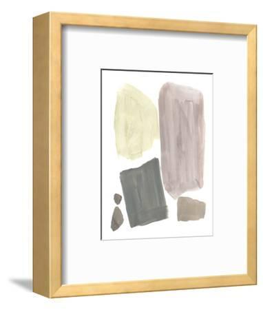 Muted Mod Shapes IV-Jennifer Goldberger-Framed Art Print