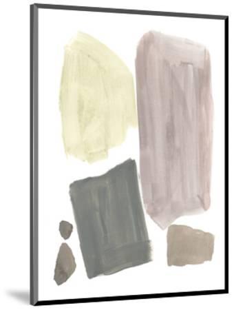 Muted Mod Shapes IV-Jennifer Goldberger-Mounted Art Print