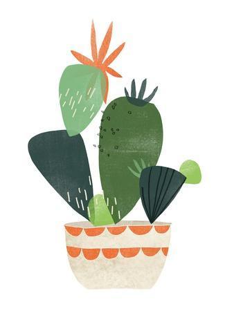 Happy Plants IV-June Erica Vess-Framed Art Print