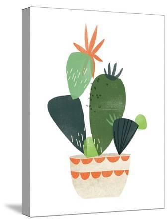 Happy Plants IV-June Erica Vess-Stretched Canvas Print