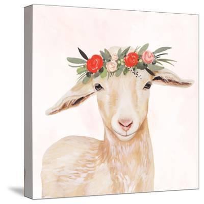 Garden Goat I-Victoria Borges-Stretched Canvas Print