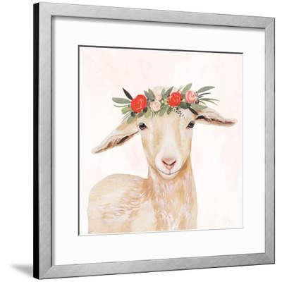 Garden Goat I-Victoria Borges-Framed Premium Giclee Print